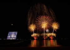 Fireworks. Festival night celebration light color stock image