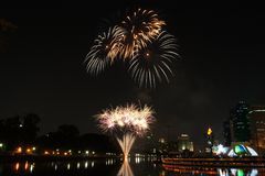 Fireworks. Festival show light night beautiful royalty free stock photography