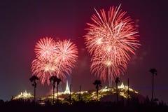 Fireworks festival in Thailand Stock Photo