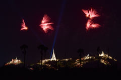 Fireworks festival in Thailand Royalty Free Stock Image
