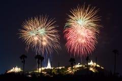 Fireworks festival in Thailand Stock Image