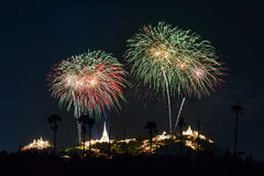 Fireworks festival in Thailand Stock Photography