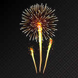Fireworks festive  bursting sparkling vector. Fireworks festive  bursting with pattern in various forms sparkling icons set black background abstract vector Stock Images