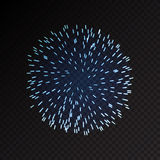 Fireworks festive  bursting sparkling vector. Fireworks festive  bursting with pattern in various forms sparkling icons set black background abstract vector Royalty Free Stock Photography