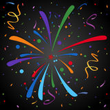 Fireworks. Festive fireworks and colorful confetti. Eps 10 Stock Image