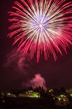 Fireworks at Fiesole. Saint Romolo patron. Fireworks at Fiesole, Italy. 06-07-2015 Stock Images