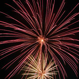 Fireworks fill the air Stock Photography