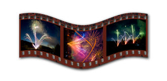 Fireworks filmstrip Royalty Free Stock Image