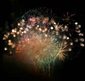 Fireworks Finale Stock Photography