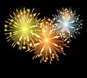 Fireworks fire color Royalty Free Stock Photography