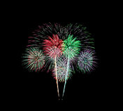 Fireworks or firecracker. Royalty Free Stock Photo