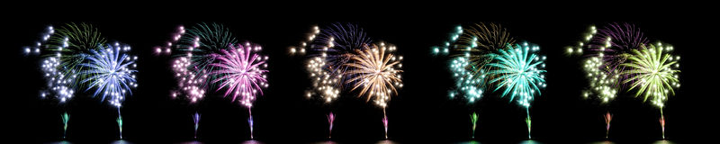 Fireworks or firecracker. Royalty Free Stock Images