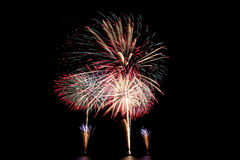 Fireworks or firecracker of colorful brightly. Royalty Free Stock Image