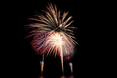 Fireworks or firecracker of colorful brightly. Royalty Free Stock Photo