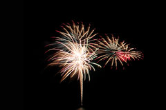 Fireworks or firecracker of colorful brightly. Royalty Free Stock Photography