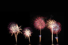 Fireworks or firecracker of colorful brightly. Royalty Free Stock Images