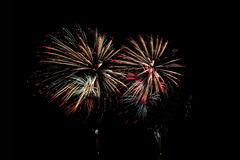 Fireworks or firecracker of colorful brightly. Royalty Free Stock Photos