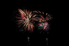 Fireworks or firecracker of colorful brightly. Stock Photo