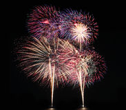 Fireworks or firecracker of colorful brightly. Stock Images