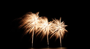 Fireworks or firecracker of colorful brightly. Stock Image