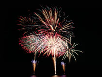 Fireworks or firecracker. Royalty Free Stock Photography