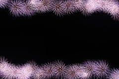 Fireworks or firecracker of frame. Stock Photos