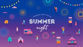 Fireworks, firecracker at night, celebration background, winner, victory poster, banner - vector illustration vector illustration