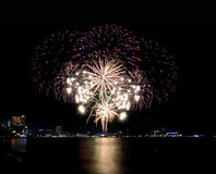 Fireworks or firecracker in Pattaya,Thailand. Stock Images