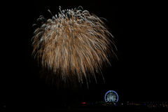Fireworks. Fireword over the pier as part of the International Fireworks Festival Scheveningen Stock Photography