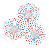 Fireworks. Firework design on white background Vector illustration Stock Image