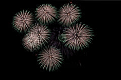 Fireworks. Firework Display in Battersea Park London, Guy Fawkes Night, November 2013 Royalty Free Stock Images