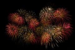Fireworks. Firework Display in Battersea Park London, Guy Fawkes Night, November 2013 Stock Images