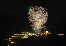 Fireworks. To celebrate the new year stock photography