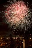 Fireworks Five. Fireworks at night in St. Augustine, FL Five royalty free stock images