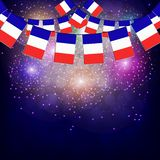 Fireworks with flags France. Illustration. Bright firework with flags France for holidays. Illustration royalty free illustration