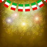 Fireworks with flags Italy. Illustration. Bright firework with flags Italy for holidays. Illustration vector illustration