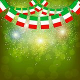 Fireworks with flags Italy. Illustration. Bright firework with flags Italy for holidays. Illustration stock illustration