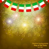Fireworks with flags Italy. Illustration. Bright firework with flags Italy for holidays. Vector illustration vector illustration