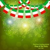 Fireworks with flags Italy. Illustration. Bright firework with flags Italy for holidays. Vector illustration royalty free illustration