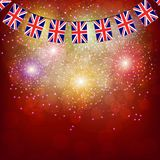 Fireworks with flags United Kingdom. Bright firework with flags United Kingdom for holidays. Illustration vector illustration