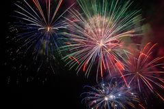 Free Fireworks For Holidays And New Year Or Christmas Royalty Free Stock Images - 124596499
