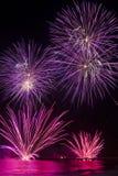 Fireworks in Forte dei Marmi Stock Photo