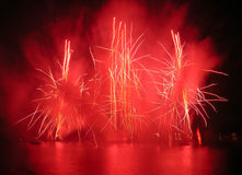 Fireworks Fountains Stock Photography