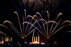Fireworks, Fountains and Music Stock Photos