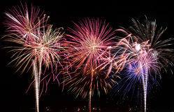 Fireworks. At fourth of July celebration stock photography