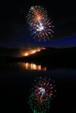 Fireworks on the fourth of july. Royalty Free Stock Photos