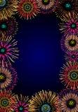 Fireworks frame Stock Photo