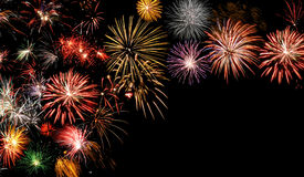 Fireworks frame Stock Photos