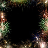 Fireworks frame. Image frame made with fireworks. Different shapes Stock Images