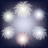 Fireworks frame Stock Image
